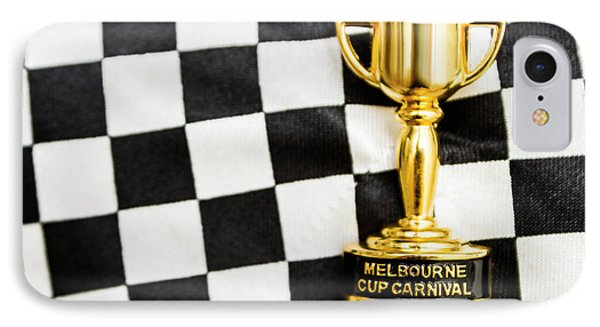 Horse Races Trophy. Melbourne Cup Win IPhone Case by Jorgo Photography - Wall Art Gallery