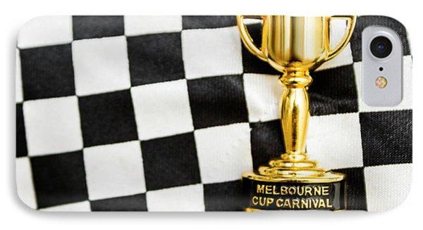 Horse Races Trophy. Melbourne Cup Win IPhone Case