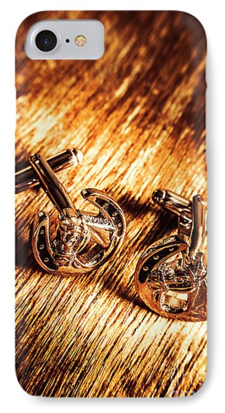 Horse Racing Cuff Links IPhone Case by Jorgo Photography - Wall Art Gallery