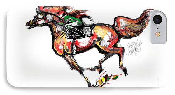 Horse Racing In Fast Colors Phone Case by Stacey Mayer