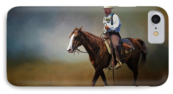 IPhone Case featuring the photograph Horse Ride At The End Of Day by David and Carol Kelly