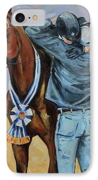Horse Show Art, Equitation Champion IPhone Case