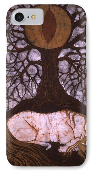 Horse Sleeps Below Tree Of Rebirth Phone Case by Carol  Law Conklin