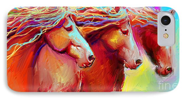 Horse Stampede Painting IPhone Case