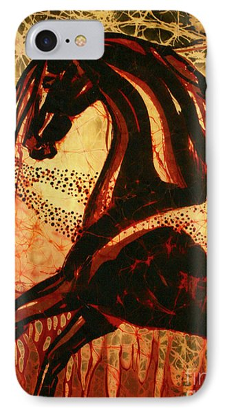 Horse Through Web Of Fire Phone Case by Carol Law Conklin