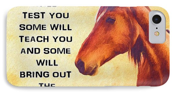 Horse Tribute IPhone Case by Dan Sproul