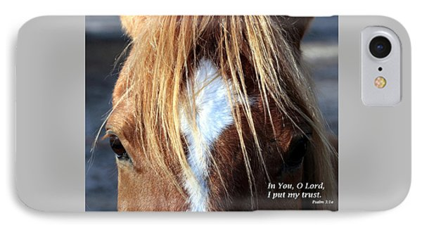 Horse /trust IPhone Case by W Gilroy