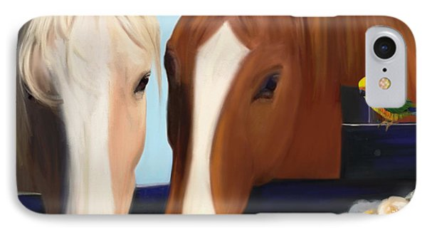 Horse Whispers  IPhone Case by Julianne  Ososke