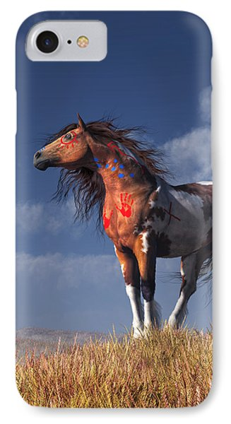 Horse With War Paint IPhone Case by Daniel Eskridge