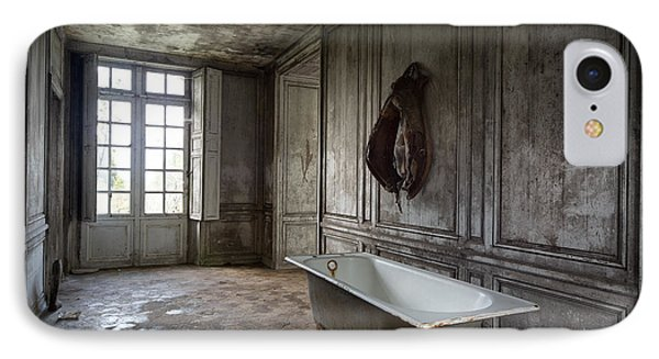Horseback Rider Bath Tub - Urban Exploration IPhone Case by Dirk Ercken