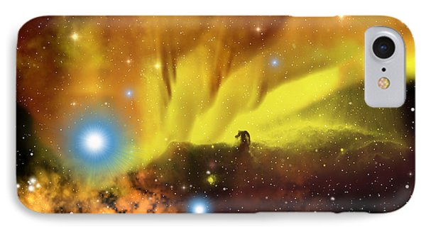 Horsehead Nebula Phone Case by Corey Ford