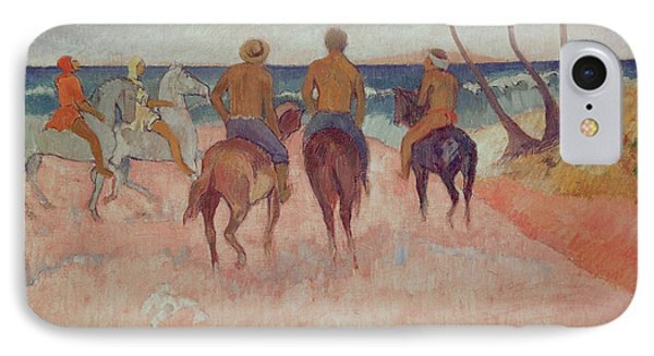 Horseman On The Beach Phone Case by Paul Gauguin