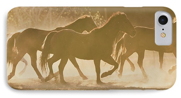 IPhone Case featuring the photograph Horses And Dust by Ana V Ramirez