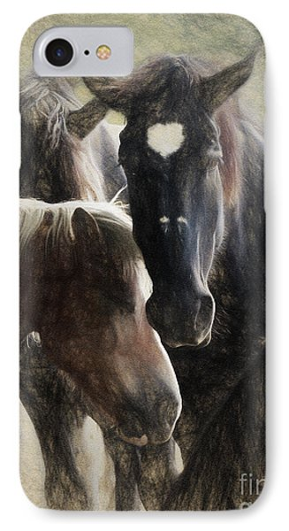 Horses IPhone Case by Elijah Knight