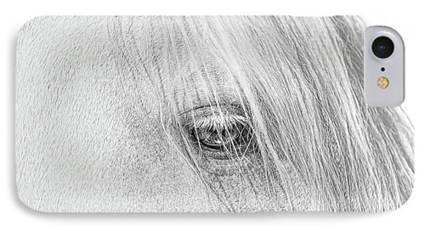 Horse's Eye Portrait Monochrome IPhone Case