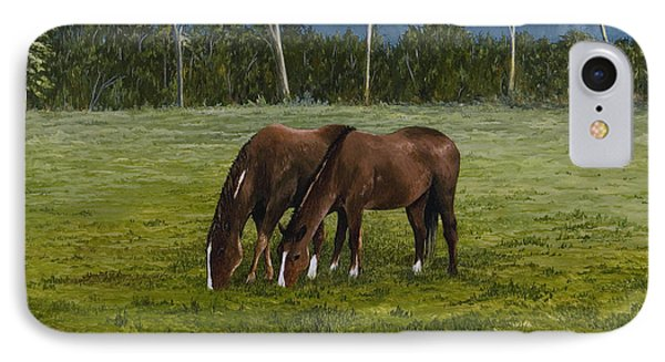 Horses Of Romance Phone Case by Mary Ann King