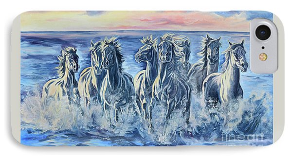 Horses Of The Sea Phone Case by Jana Goode