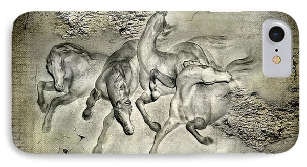 Horses Phone Case by Svetlana Sewell