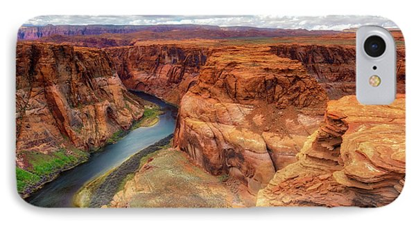 IPhone Case featuring the photograph Horseshoe Bend Arizona - Colorado River $4 by Jennifer Rondinelli Reilly - Fine Art Photography