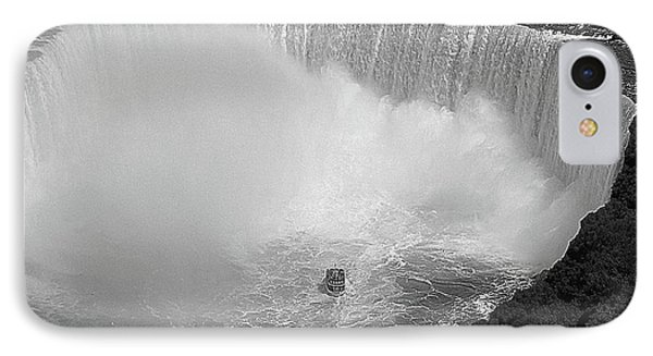 Horseshoe Falls Black And White Phone Case by DigiArt Diaries by Vicky B Fuller