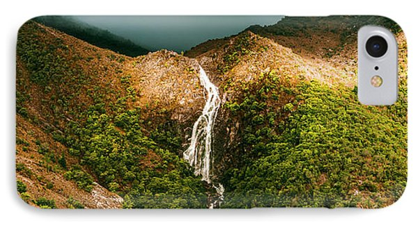 Horsetail Falls In Queenstown Tasmania IPhone Case by Jorgo Photography - Wall Art Gallery
