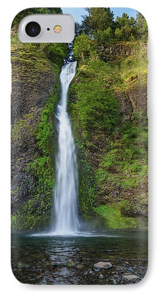 Horsetail Falls In Spring IPhone Case by Greg Nyquist