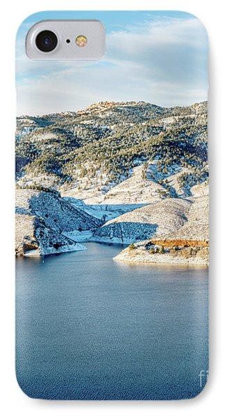 Horsetooth Reservoir And Rock IPhone Case by Marek Uliasz