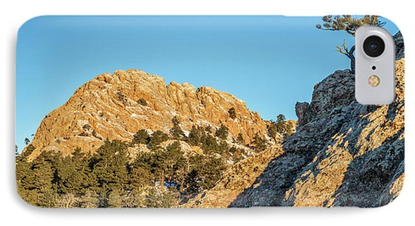 Horsetooth Rock And Pine Tree IPhone Case