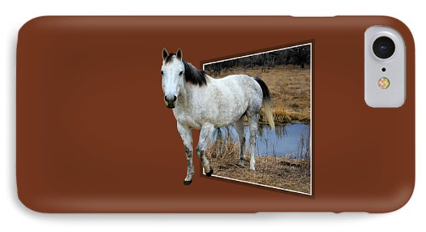 Horsing Around IPhone Case by Shane Bechler