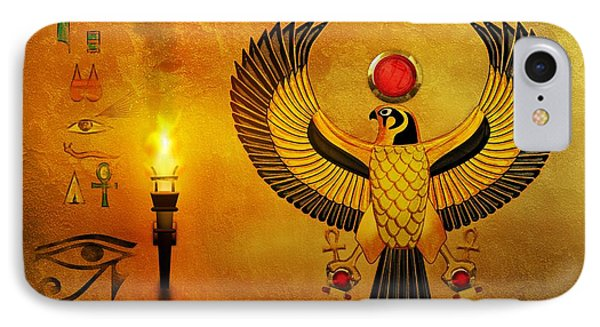 Horus Falcon God IPhone Case by John Wills