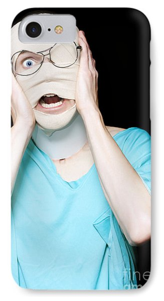 Hospital Trauma Patient Screaming In Terror IPhone Case by Jorgo Photography - Wall Art Gallery