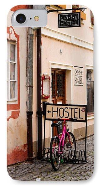 Hostel Parking IPhone Case by Rae Tucker