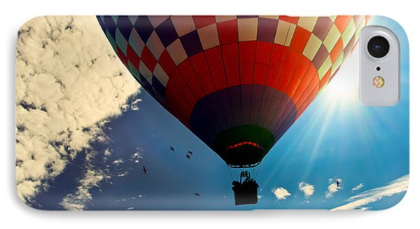 Hot Air Balloon Eclipsing The Sun Phone Case by Bob Orsillo