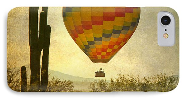 Hot Air Balloon Flight Over The Southwest Desert Phone Case by James BO  Insogna