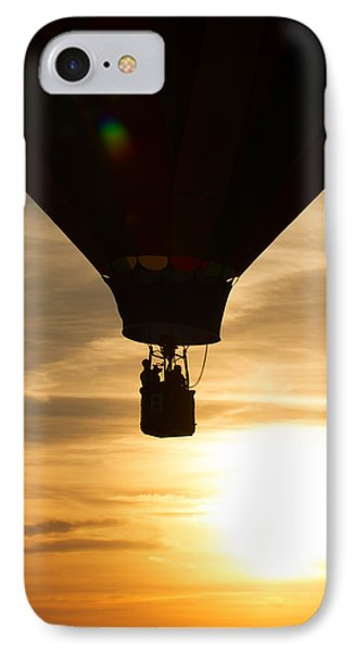 Hot Air Balloon Sunset Silhouette IPhone Case by Brian Caldwell