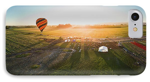 IPhone Case featuring the photograph Hot Air Balloon Taking Off At Sunrise by William Lee
