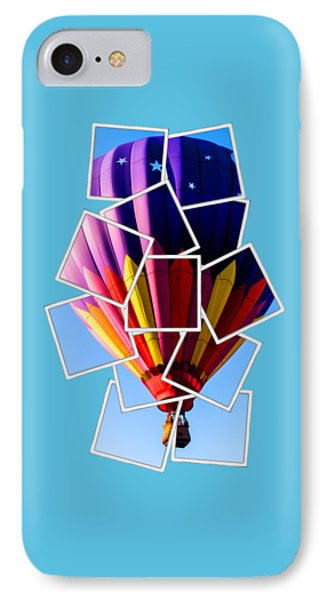 Hot Air Balloon Tee IPhone Case by Edward Fielding