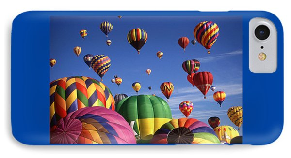 Beautiful Balloons On Blue Sky IPhone Case by Art America Gallery Peter Potter