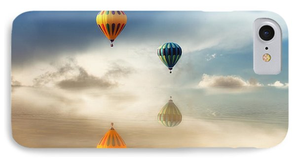 Hot Air Balloons Water Reflections IPhone Case by Tracie Kaska
