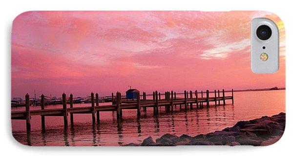 Hot Bay Sunset Phone Case by Trish Tritz