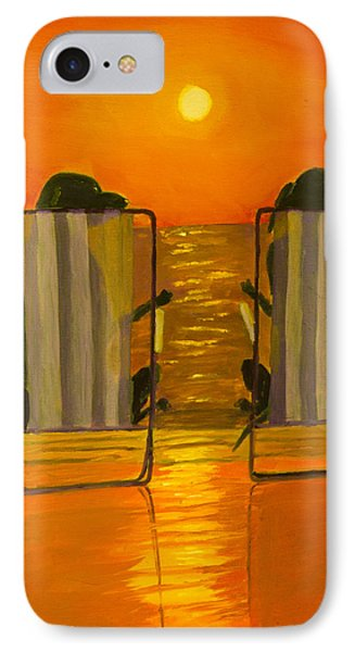 Hot Day At The Beach Phone Case by Roger Wedegis