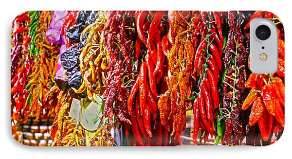 Hot Peppers IPhone Case by Nadine Dennis