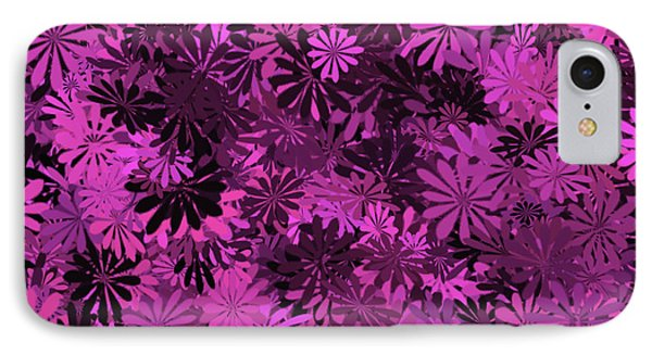 Hot Pink Floral Pattern IPhone Case by Aimee L Maher Photography and Art Visit ALMGallerydotcom