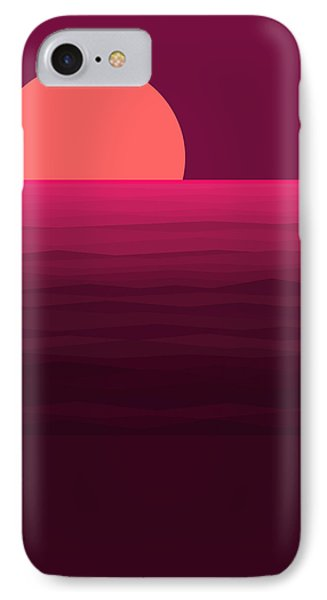 Hot Pink Sunset IPhone Case by Val Arie