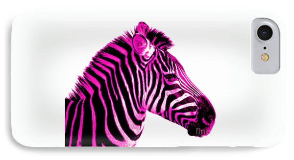 Hot Pink Zebra IPhone Case by Rebecca Margraf