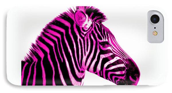 Hot Pink Zebra IPhone 7 Case by Rebecca Margraf