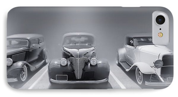 Hot Rod Power Black And White Poster Phone Case by Dapixara Art
