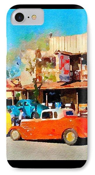 Hot Rods At Swing Inn, Temecula IPhone Case by Karen Dickel