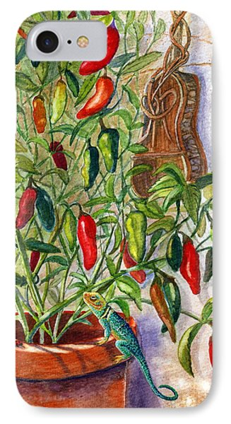 IPhone Case featuring the painting Hot Sauce On The Vine by Marilyn Smith