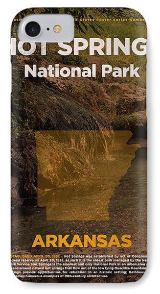 Hot Springs National Park In Arkansas Travel Poster Series Of National Parks Number 31 IPhone Case